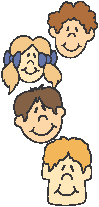 Clipart image of children's faces