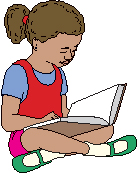 Girl reading clipart