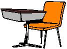 Clip art of a student desk